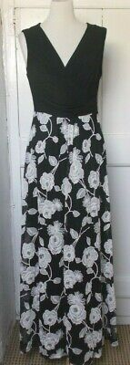 £19.99 • Buy Phase Eight Black White Embroidered Lace Mix Maxi Dress Sz 14 Vgc