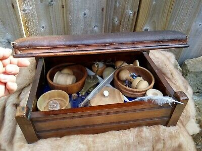 £8 • Buy Pagan Alter Box. Leather Top, Brass/solid Wood. Loads Of Stuff In It All To Go