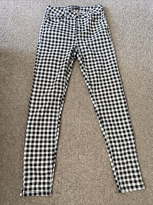 £5 • Buy Black And White Checked Jeans