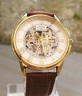 £51 • Buy Mens Boxed Rotary Skeleton Watch GS03862/01
