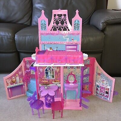 £49.95 • Buy Barbie Mariposa Butterfly Folding Carry Doll House / Castle Toy 2012 PORTABLE
