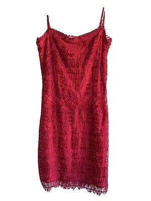 £24 • Buy Christian Lacroix Pink Lace Strappy Party Dress 8 Bazar