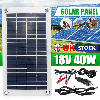 £20.59 • Buy UK 12V 40W Dual Double USB Flexible Solar Panel Battery Charger For Car Boa