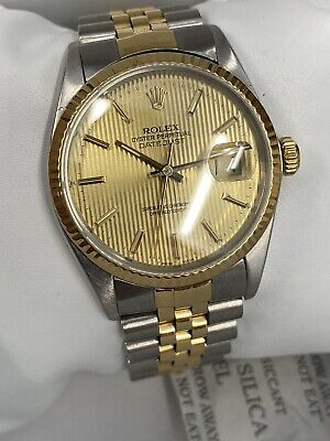 $ CDN2160.82 • Buy 1987 Vintage Rolex Datejust 16013 Original Tapestry Dial Mint Condition 36mm
