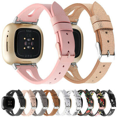 $ CDN10.95 • Buy For Fitbit Versa 1/2/3/Lite/SE Replacement Leather Wristband Bracelet Band Strap