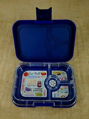 AU24.04 • Buy YUMBOX Kids Bento Lunch Box Leakproof Container 4 Compartments Blue