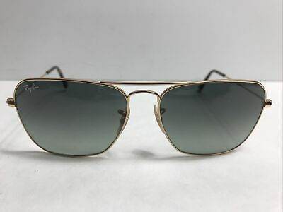 AU66.75 • Buy Ray-Ban RB 3136 181/17 Caravan Gold Sunglasses Made In Italy 140mm