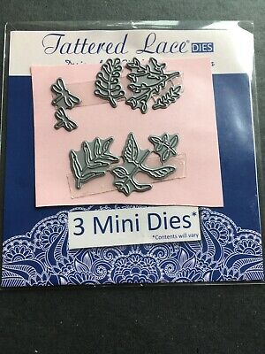 £2.50 • Buy 8 X Tattered Lace Dragonfly's  / Leaves Mini Cutting Dies. As Photo. Uk Posting