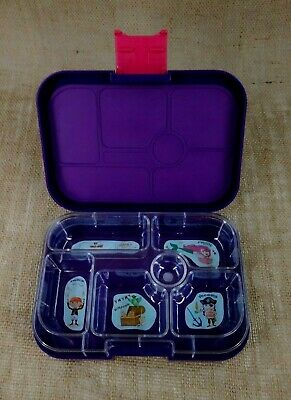 AU24.04 • Buy YUMBOX Kids Bento Lunch Box Leakproof Container Purple 6 Compartments