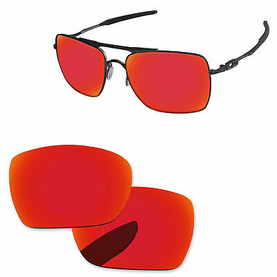 £9.19 • Buy PapaViva Fire Red Mirror Polarize Replacement Lenses For-Oakley Deviation OO4061