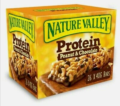£15.99 • Buy Nature Valley Protein Peanut & Chocolate Gluten Free Cereal Bars Pack Of 26x40g