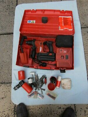£50 • Buy Hilti TE 6-A36 AVR SDS Cordless Hammer Drill + Charger & Case.Needs New Battery