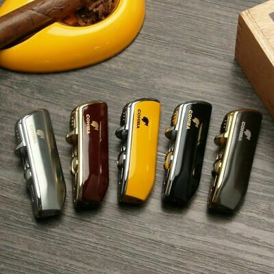 £13.99 • Buy COHIBA Windproof Mini Cigar Lighter 3 Jet Flame Torch With Cigar Punch Metal