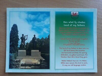 £0.99 • Buy Postcard Pontypridd Memorial To Two Composers Of The Welsh National Anthem Wales