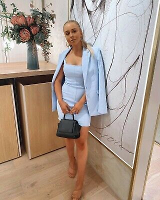AU94 • Buy Kookai Oyster Bustier Dress - Ice Blue - NEW WITHOUT TAGS - Size 34 (6/8)