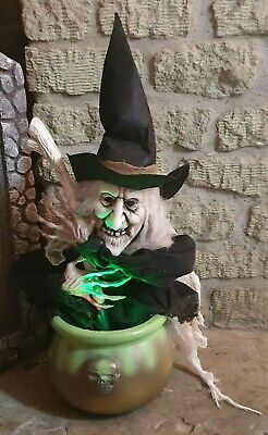 $ CDN51.46 • Buy Halloween 21  Animated Lights Sounds Witch Cauldron - Party Prop Decoration