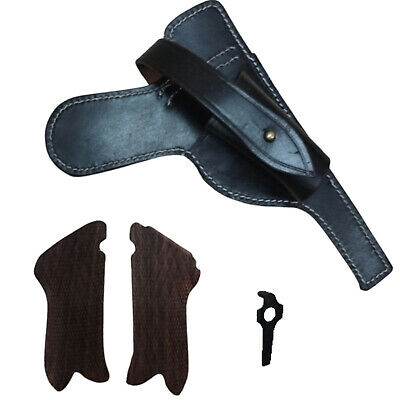 £32 • Buy P08 Paratrooper Leather Holster W/Tool & Hand Grips-Dark Brown L375