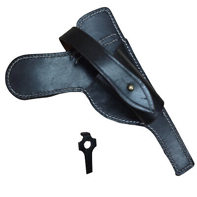 £24 • Buy P08 Luger Paratrooper Leather Holster W/ Take Down Tool - Dark Brown B457