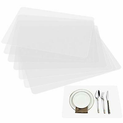 AU17.67 • Buy  Plastic Placemats Table Mats, Translucent Placemats Washable Dining Or
