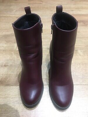 £9.99 • Buy Hardly Worn Red Herring Ladies Shoes / Boots Burgundy Colour Size UK 4 / EU 37