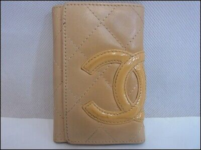 £106.20 • Buy Auth KAK04 CHANEL Cambon Line Key Case With Serial Seal Coco Mark From Japan