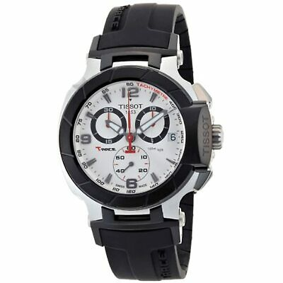 £212.47 • Buy New Tissot T0484172703700 T-Race SWISS MADE  White Chronograph Dial Watch