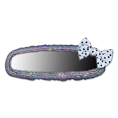 $21.33 • Buy Car Accessories For Women Interior Cute Glitter Rearview Mirror Charm Decor With