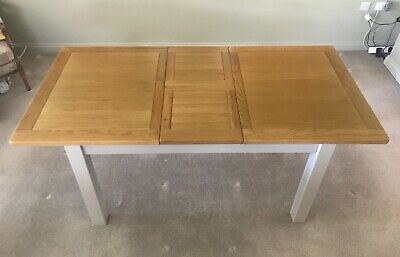 £390 • Buy Cotswold Company Extending Dining Table 140 - 180cm In Oak & Lundy Stone