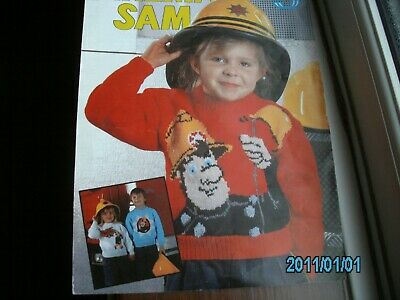£1.99 • Buy Knitting Pattern For Fireman Sam Jumpers Size 22-28 Inch Chest
