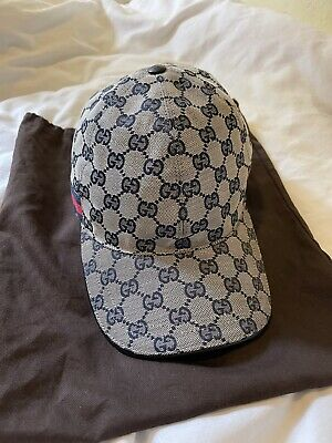 """$ CDN472.70 • Buy Gucci Cap- Gucci Supreme Canvas Navy Blue And Red """"Dead Stock """" Authentic 🔥"""