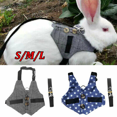 £5.64 • Buy Small Animal Harness Lead Adjustable Rabbit Squirrel Walking Vest For Pet/Puppy
