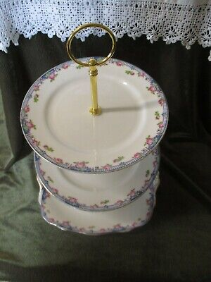 £15.50 • Buy Pretty  Paragon Star China Floral  3 Tier Cake Stand