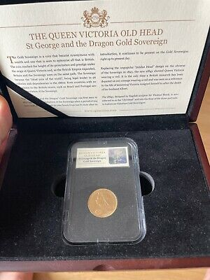 £320 • Buy The Queen Victoria Old Head - St George & Dragon Gold Sovereign -1893
