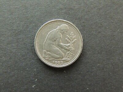 £0.70 • Buy Germany 50 Pfennig Coin Dated 1982 - D (G5f)