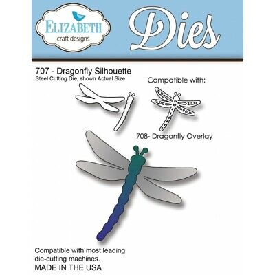 £6.99 • Buy Elizabeth Craft Cutting Die - Dragonfly Silhouette - Cardmaking Insect Art