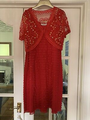 £6 • Buy Beautiful Red Dress And Jacket