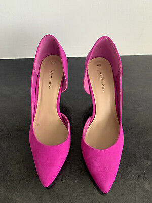 £11 • Buy New Look Magenta Pink Faux Suede Stiletto Heel Court Shoes UK Size 6