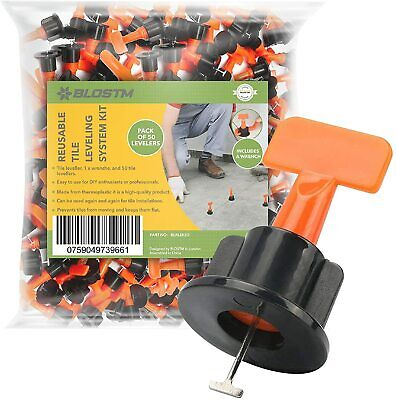 £7.99 • Buy 50 X Reusable Tile Levelling System Tool Kit Spacer Leveller Floor Wall Clips