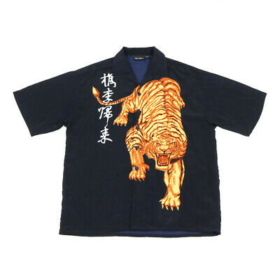£28.79 • Buy Vintage Chinese Tiger Shirt   Large   Retro Festival Party Button 90s Graphic