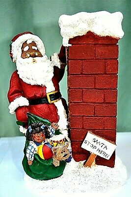 £12.78 • Buy African American Santa-Chimney Candy Or Nuts Holder
