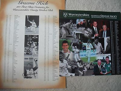 £2.99 • Buy Graeme Hick Signed Worcestershire Cricket Centuries Posters X2