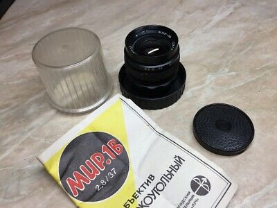 $81.81 • Buy Old Stock ! Wide Angle Lens Mir-1B F/2.8/37mm M42 Zenit № 85068023