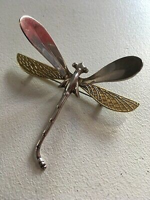 £11.99 • Buy **large, Silver Dragonfly Brooch, Mexico, Vintage**