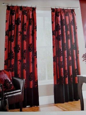 £45 • Buy  Gorgeous Pair Of  Montgomery Floral Design Fully Lined Curtains + Tie-backsnew