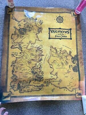£0.99 • Buy Game Of Thrones Westeros Map Poster 27  X 23