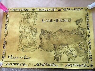 £4.99 • Buy Game Of Thrones Westeros Map Poster 36  X 24