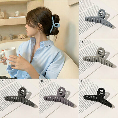 $ CDN2.36 • Buy Korean Style Women Girls Cool Color Simple Style Matte Frosted Hair Accessories