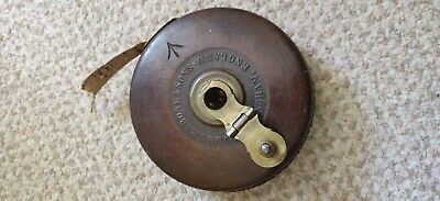 £30 • Buy John Rabone And Sons Vintage Ww2 Era Leather Case  50ft Cloth Tape Measure