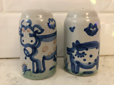 """$20 • Buy M A Hadley Salt & Pepper Shakers.  Cow And Pig. 3"""""""