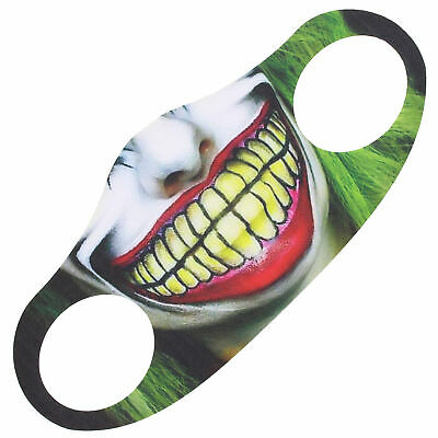 £4.69 • Buy Scary Smirking ClownHalloween Face Mask/ Cover